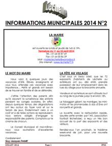 Léchelle info n° 2/2014