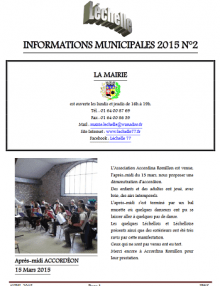 Léchelle info n° 2/2015